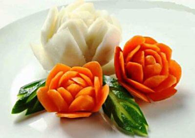 Цветы из овощей рецепты как украсить блюдо