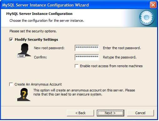 Устанавливаем пароль root