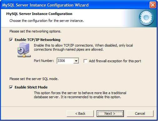 включаем поддержку TCP/IP соединений