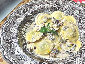 равиоли с сыром и мятой рецепт