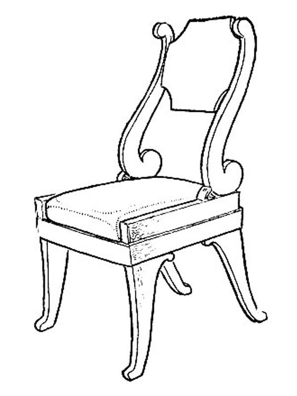 эскиз стула Стасова